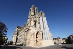 Reims katedra w Francja Fotografia Stock