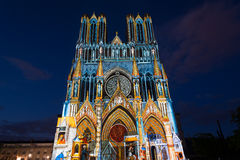 Reims-Kathedrale Stockbild