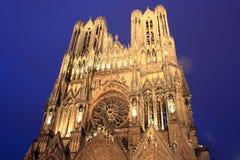 Reims: Kathedrale von Notre Dame in Frankreich Stockbild