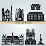 Reims landmarks and monuments Royalty Free Stock Image