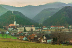 The Rein Abbey. Is a Cistercian monastery in the municipality Rein in Styria Stock Images