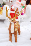 Rein deer cart and Santa Clause Royalty Free Stock Image