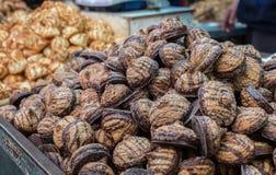 Rein für Passahfestkokosnuß und Erdnussplätzchen stockbild