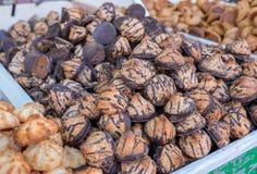 Rein für Passahfestkokosnuß und Erdnussplätzchen lizenzfreie stockfotos