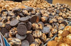Rein für Passahfestkokosnuß und Erdnussplätzchen lizenzfreies stockbild
