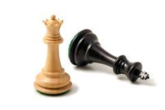 Reina blanca y rey negro Imagen de archivo libre de regalías