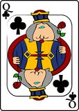 Reina de clubs stock de ilustración