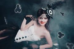 Reina de clubs imágenes de archivo libres de regalías