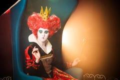 Reina de corazones en pensamiento Foto de archivo libre de regalías