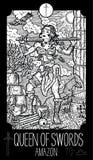 Reina de espadas amazon stock de ilustración