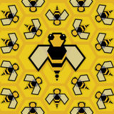 Reina de la abeja Imágenes de archivo libres de regalías