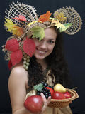 Reina de la cosecha Foto de archivo libre de regalías