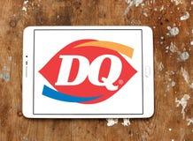 Reina de la lechería, logotipo del restaurante de los alimentos de preparación rápida de DQ Imagenes de archivo
