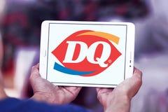 Reina de la lechería, logotipo del restaurante de los alimentos de preparación rápida de DQ Imágenes de archivo libres de regalías