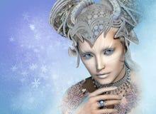 Reina de la nieve, 3d CG ilustración del vector