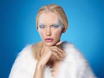 Reina de la nieve de Halloween en piel Imagen de archivo libre de regalías
