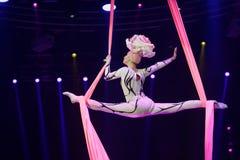 Reina de la nieve de la demostración del circo Imagen de archivo libre de regalías