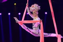 Reina de la nieve de la demostración del circo Fotografía de archivo libre de regalías