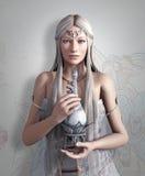 Reina de los duendes con elixir ilustración del vector