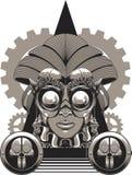 Reina de Steampunk ilustración del vector