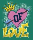 Reina del amor ilustración del vector