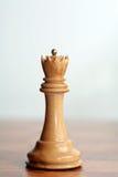 Reina del blanco del ajedrez Imagen de archivo