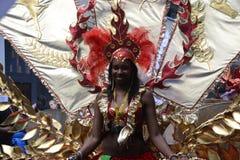 Reina del carnaval, Notting Hill Imágenes de archivo libres de regalías
