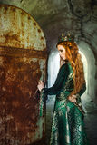 Reina del jengibre cerca del castillo imagenes de archivo