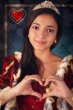 Reina del retrato de los corazones Foto de archivo