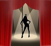 Reina del 'strip-tease' Fotos de archivo