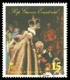 Reina Elizabeth II en una escena de la coronación fotos de archivo libres de regalías