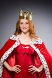 Reina en vestido rojo Imágenes de archivo libres de regalías
