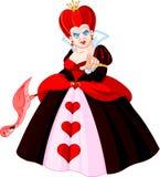 Reina enojada de corazones Foto de archivo libre de regalías