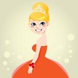 Reina hermosa del baile de fin de curso Fotografía de archivo