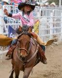 Reina joven del rodeo - hermanas, rodeo 2011 de Oregon Imagen de archivo