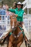 Reina joven del rodeo - hermanas, rodeo 2011 de Oregon Imágenes de archivo libres de regalías
