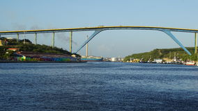 Reina Juliana Bridge en Willemstad, Curaçao Fotografía de archivo