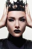 Reina negra Una princesa Imagen de archivo libre de regalías