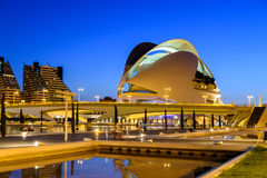 Reina (Queen) Sofia Palace of Arts of City of Arts and Sciences Stock Image