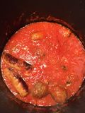 The Reina's Sunday Sauce And Meatballs Royalty Free Stock Images