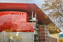 Reina Sofia Museum Exterior View, Madrid, Spanien Stockbilder