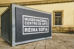 Reina Sofia Museum Exterior View, Madrid, Spanien Stockfotos