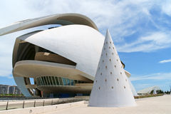 Reina Sofia Palace of the Arts in Valencia, Spain Royalty Free Stock Images