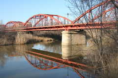 Reina Talavera, Τολέδο, Ισπανία dela γεφυρών σιδήρου στοκ φωτογραφία