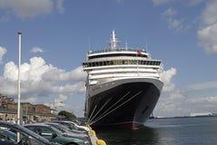Reina Victoria de la nave de DENMARK_cruise Foto de archivo libre de regalías
