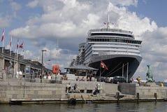 Reina Victoria de la nave de DENMARK_cruise Fotografía de archivo libre de regalías