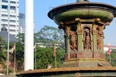 Reina Victoria Fountain en el cuadrado de Merdeka, Kuala Lumper Malaysia foto de archivo