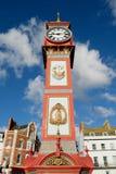 Reina Victoria& x27; reloj del jubileo de s en Weymouth Foto de archivo libre de regalías
