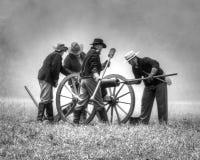 Reinactment: the Battle of Hernando royalty free stock photos