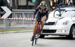 Reinar Janse范Rensburg Team MTN Qhubeka 免版税库存图片